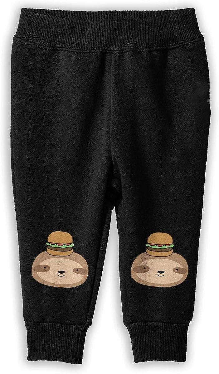 Udyi/&Jln-97 Hamburger Sloth Face Unisex Baby Pants Soft Cozy Boys Girls Elastic Trousers