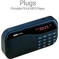 Portronics POR-141 Plugs Portable Speaker with FM & MicroSD card Support (Black)