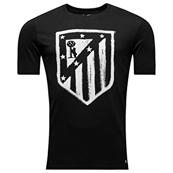 Nike Atlético de Madrid Crest tee YTH Camiseta de Manga Corta, Niños, Negro Black