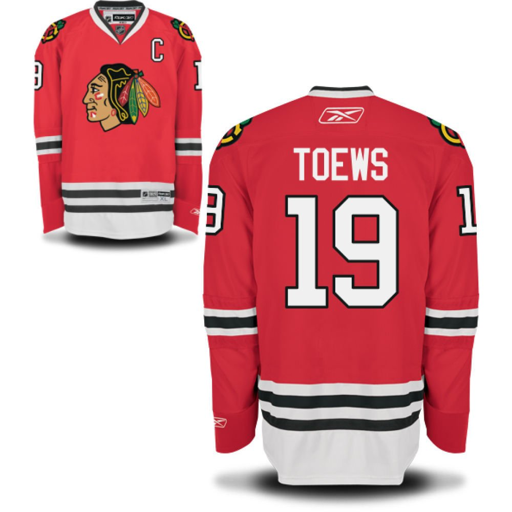 fc879f0682b Amazon.com : Jonathan Toews Chicago Blackhawks YOUTH Premier Home Jersey by  Reebok Select Youth Hockey Jersey Size: Small / Medium : Sports Fan Jerseys  : ...