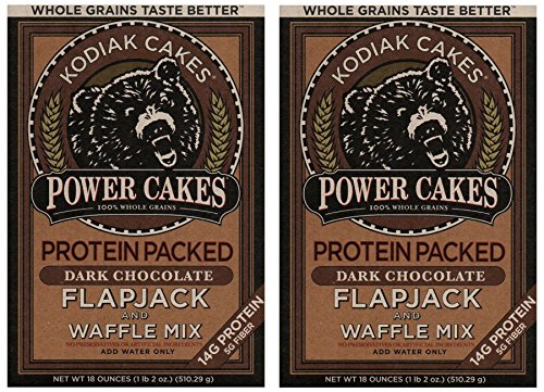 Kodiak Cakes Power Cakes, Dark Chocolate Flapjack and Waffle Mix, 18 Ounce (2 Pack) (Bakers Dark Chocolate compare prices)
