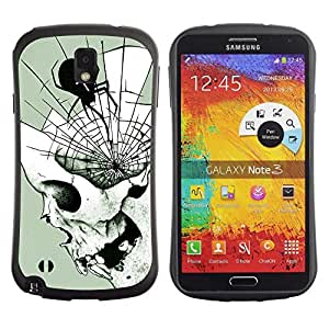 Be-Star Colorful Printed Design Anti-Shock Iface First Class Tpu Case Bumper Cover For SAMSUNG Galaxy Note 3 III / N9000 / N9005 N9000 N9002 N9005 ( spider web mind fangs deep Halloween ) Kimberly Kurzendoerfer