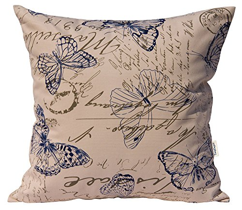 TangDepot 100% Cotton Nature Theme Throw pillow covers, Cush