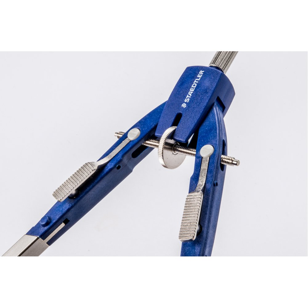 Staedtler 55201 Mars 552 Comfort Spring Bow Compass Blue//Silver