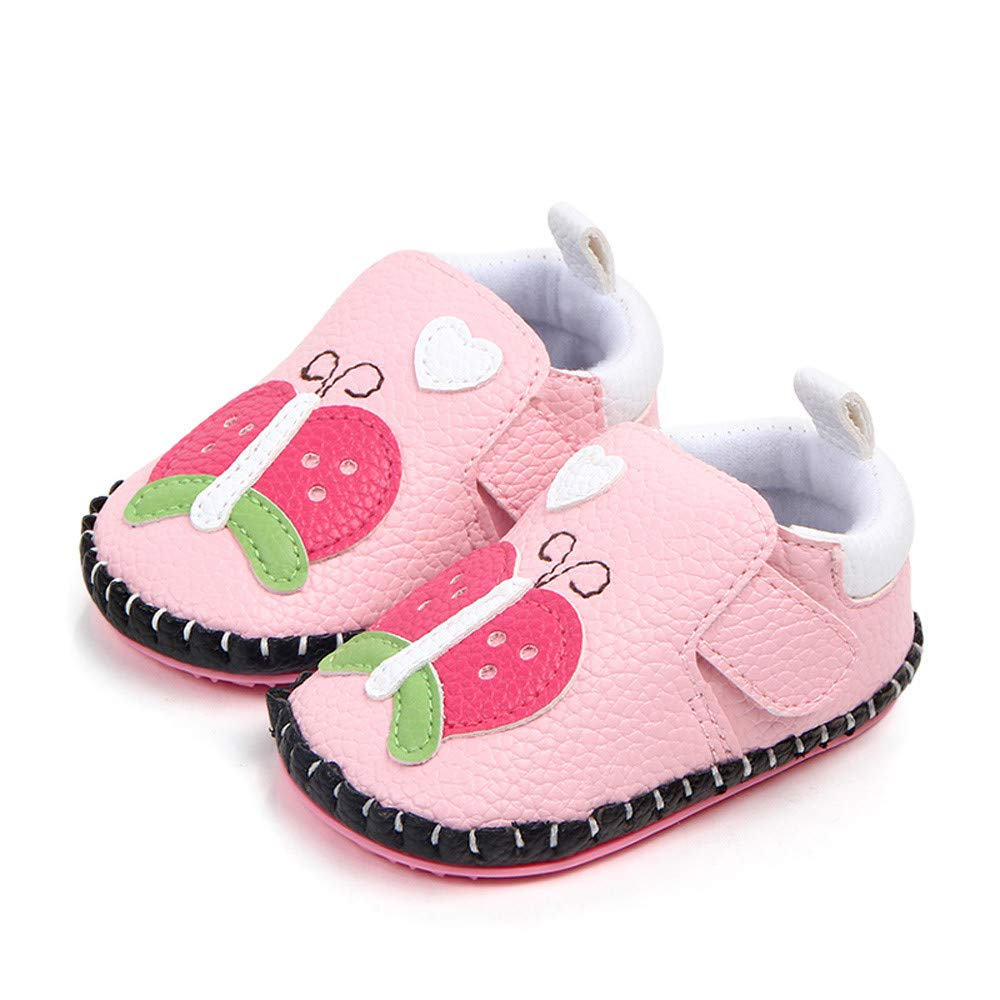 Amazon.com  Newborn Infant Baby Girls Cute Shoes Soft Sole Animals First  Walker Toddler Shoes (0~6 Months f202d42794ca
