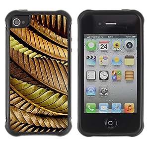 Suave TPU GEL Carcasa Funda Silicona Blando Estuche Caso de protección (para) Apple Iphone 4 / 4S / CECELL Phone case / / Leaves Autumn Fall Golden Brown /