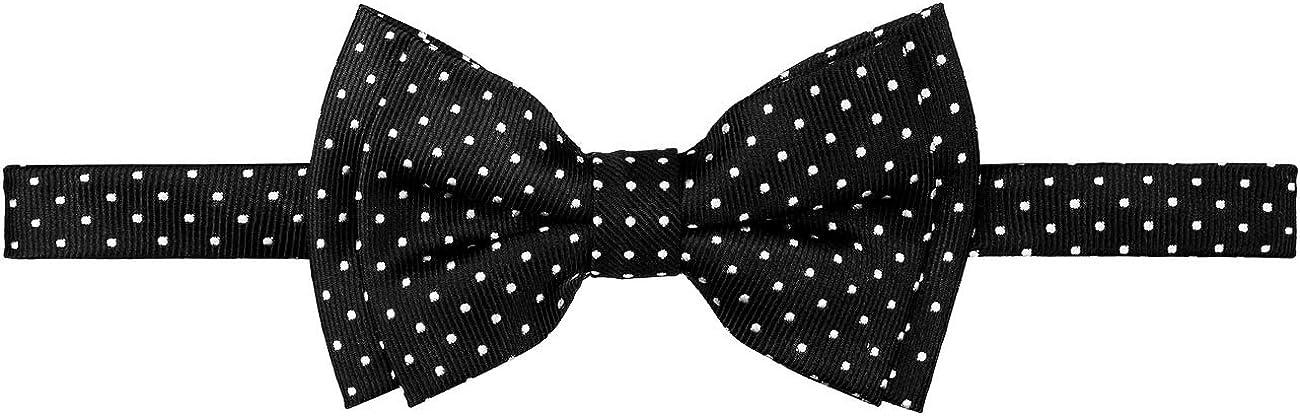 Retreez Dual Color Mini Polka Dots Woven Microfiber Pre-tied Boys Bow Tie