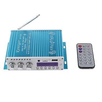 WINGONEER Mini Bluetooth estéreo de alta fidelidad de audio amplificador AMP Bass Booster MP4 12V de