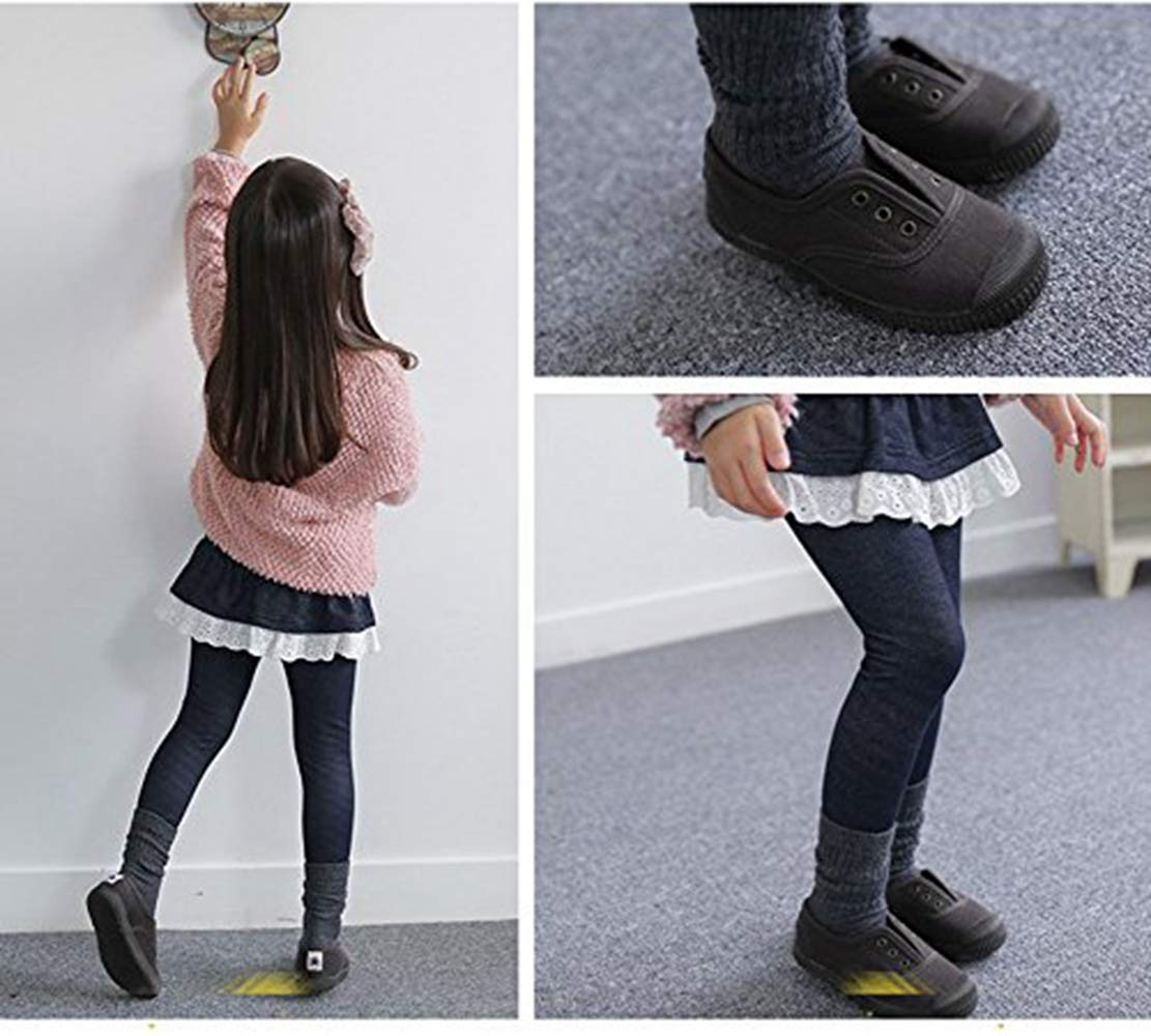 Eforstore 7 Pack Winter Warm Children Fashion Cotton Ruffle Knee-Socks Anti-Skid Socks