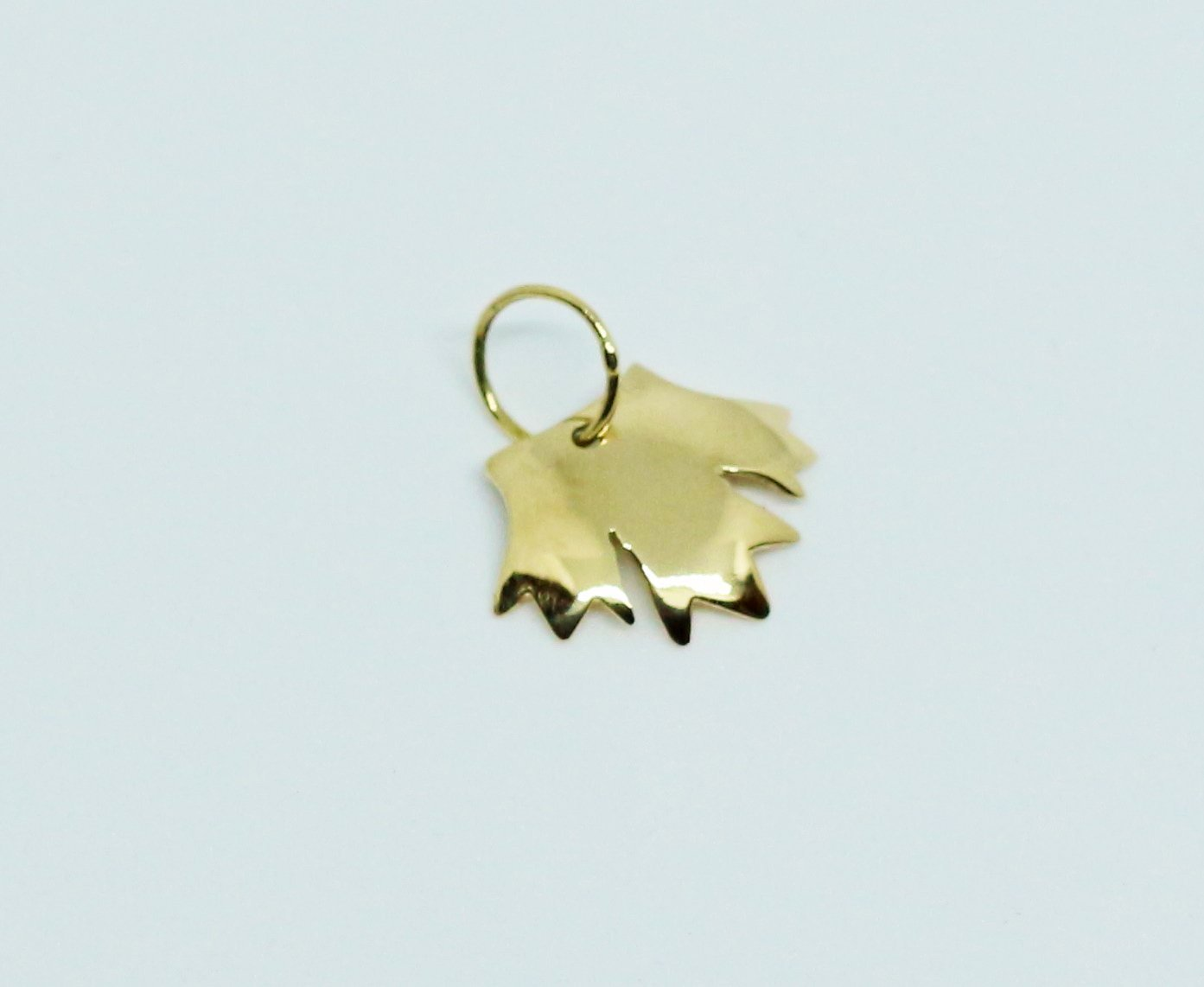 Sale 29% Off: Canada Day Special offer - Gold 14k Handmade Maple Leaf Pendant