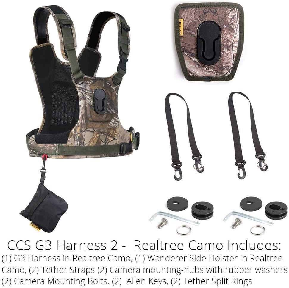 Cotton Carrier CCS G3 Camera Harness System for One Camera Camo