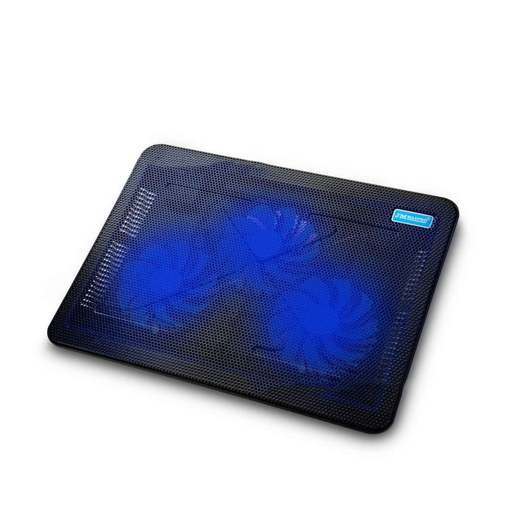 Bangxiu Bangxiu Bangxiu Laptop Cooling Pad, Portátil Slim Quiet USB Powered Notebook Notebook Cooler Cooling Pad Stand Chill Mat con 3 Ventiladores LED Azules, se Adapta a 14,15,17 Pulgadas 514e97