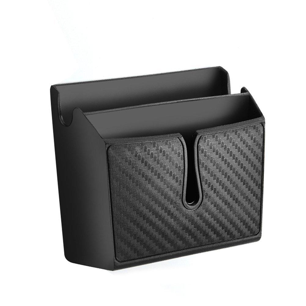 Boî te de té lé phone portable de voiture, Silence Shopping Type de pâ te Carbone Box de fibre de carbone (petit) Silence Shopping Type de pâte Carbone Box de fibre de carbone (petit)