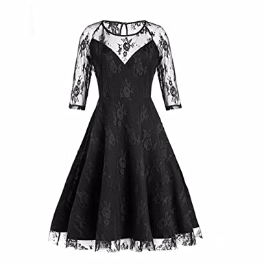 f144578897 Ladies Elegant Dresses Women New Vintage Wedding Dress Lace Formal Party  Dress Patchwork Cocktail Dresses Girls