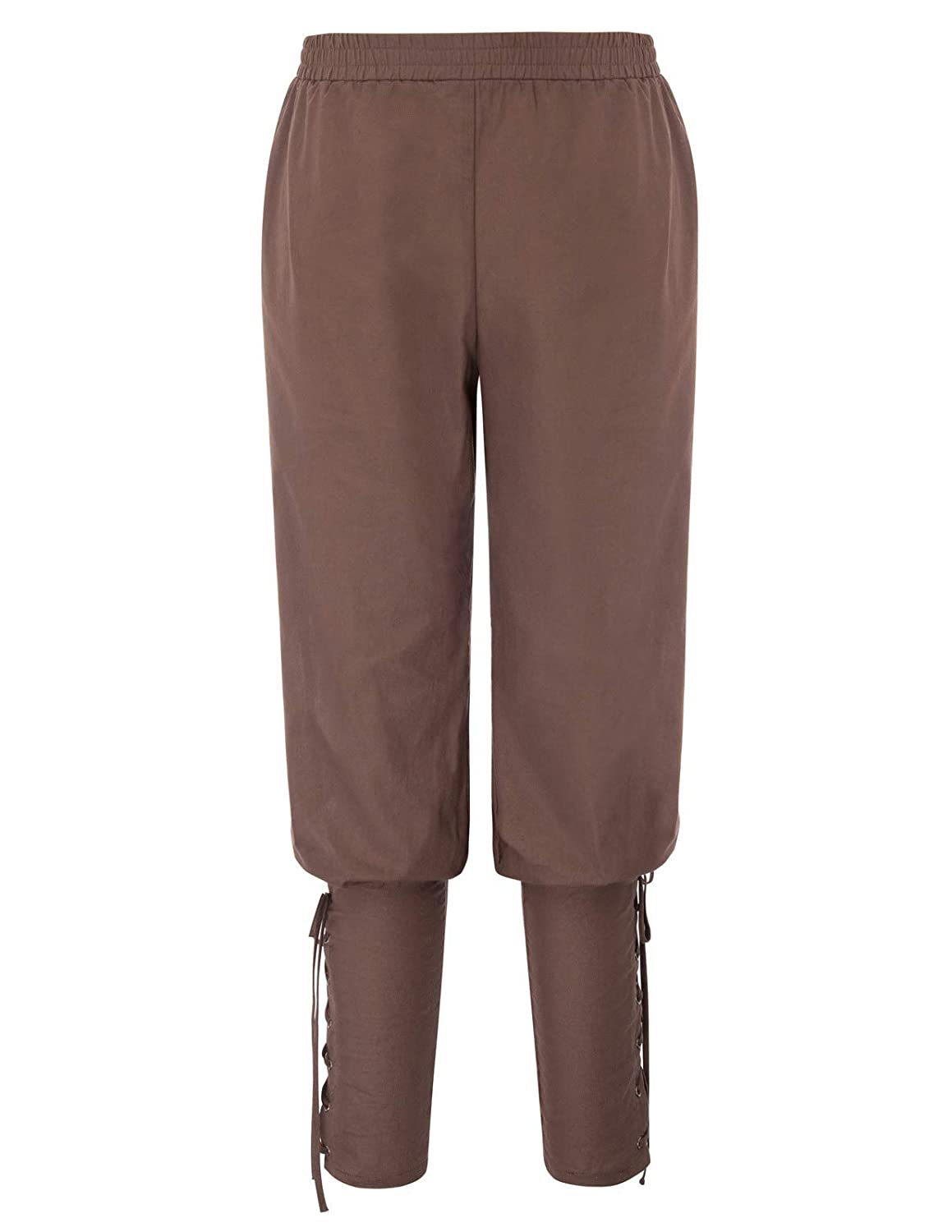 Men's Steampunk Pants & Trousers SCARLET DARKNESS Mens Renaissance Pants Pirate Costume Ankle Banded Trousers $24.99 AT vintagedancer.com