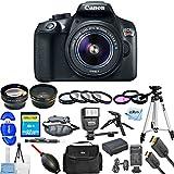 Canon EOS Rebel T6 DSLR Camera with 18-55mm Lens 1159C003 (Black) [International Version] (Mega Bundle)