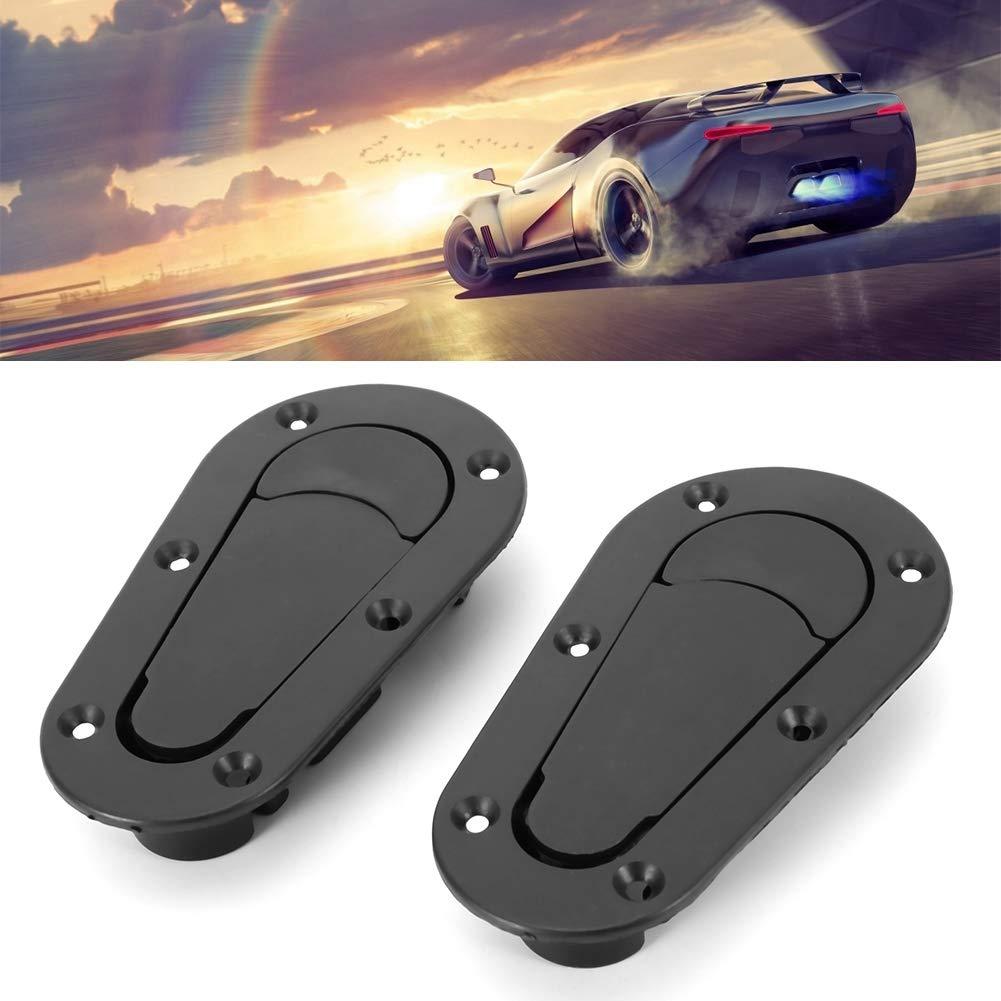 Universal Racing Car Bonnet Plus Llave con pasador de cierre al ras sin kit de bloqueo Negro Bloqueo del cap/ó