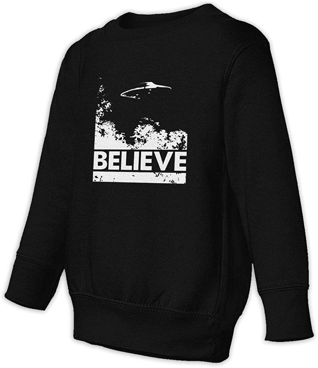 I Want to Believe Alien UFO Boys Girls Pullover Sweaters Crewneck Sweatshirts Clothes for 2-6 Years Old Children