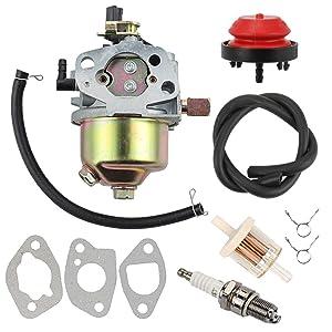 Yermax 951-10974A Snow Blower Carburetor + Fuel Filter Spark Plug for MTD Troy Bilt Cub Cadet Craftsman Yard Machines Snow Blower