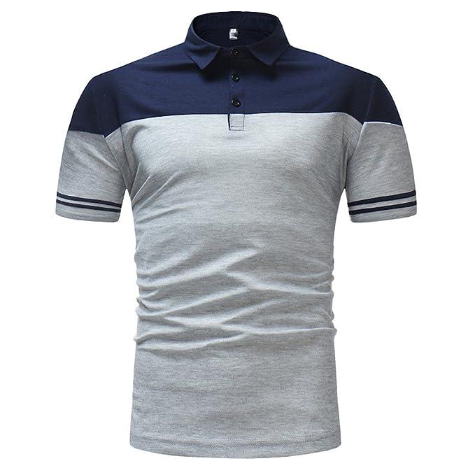 b2c4fa9d721e Poloshirt Herren Sommer T Shirt Top Slim Fit Polo Polohemd Kurzarm Shirt  Baumwolle Stehkragen T-Shirt Hemden Freizeithemd Zhen+ Männer Sport Tank  Tops ...
