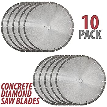 Image of Home Improvements 14' Sintered 10mm Wet/Dry General Purpose Concrete Diamond Saw Blade (10 Pack)