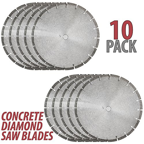 14″ Sintered 10mm Wet/Dry General Purpose Concrete Diamond Saw Blade (10 Pack)