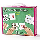 Star Right Self-Correcting Counting Puzzle with Realistic Art to Set of 35 (70 pieces) with 1 Puzzle Frame Included