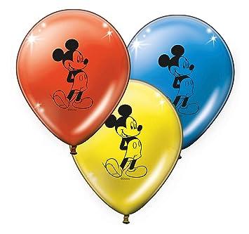 8 Globos * Mickey Mouse * para los niños Cumpleaños o fiesta//Con 75 cm del Envío//Globos Deko temática Fiesta Mickey Mouse
