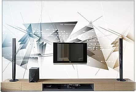 WORINA Mural HD Fondo De Pantalla De Tv Papel 3D Espacio Geométrico Abstracto Figura Geométrica Pared De Fondo De Sofá, 430X300 Cm (169.3 Por 118.1 In): Amazon.es: Bricolaje y herramientas