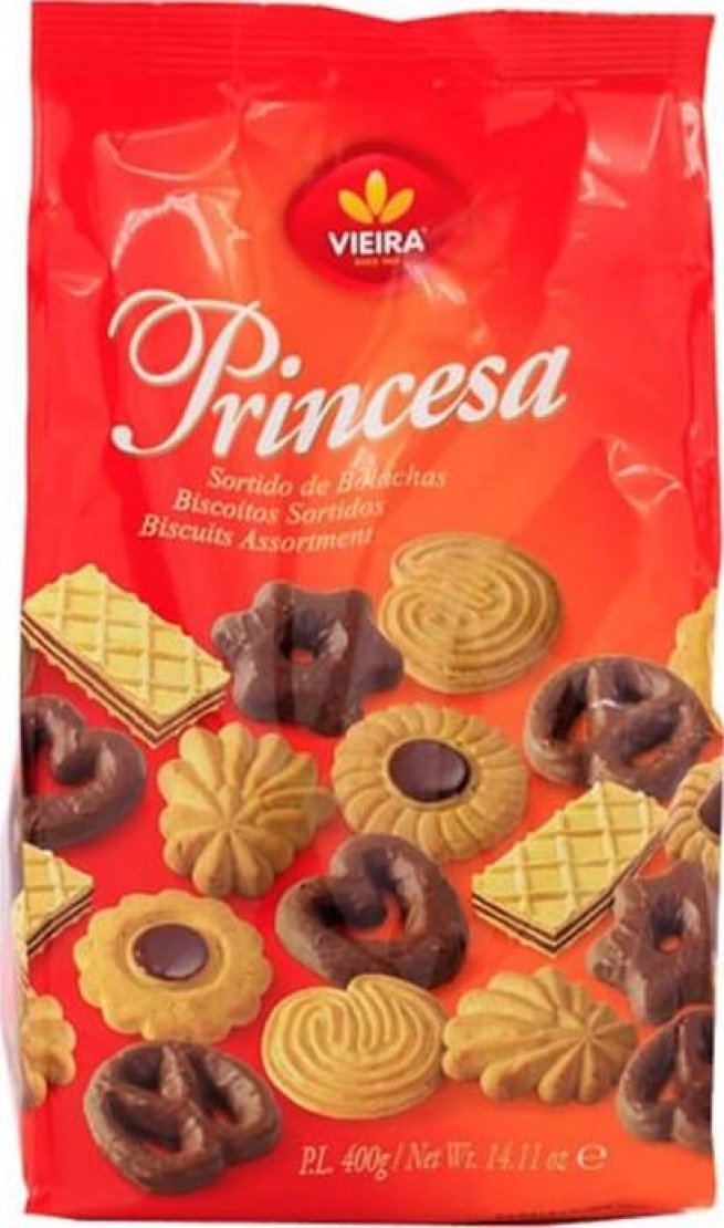 Vieira Princesa Biscuits Cookies Assortment, 400g | 14.11oz from Portugal