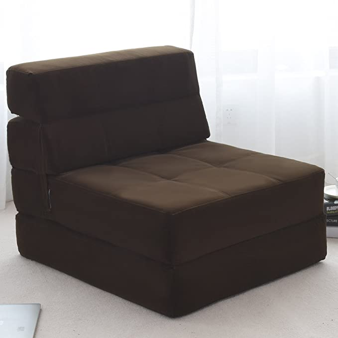 ... Bed Floor Couch Foam Folding Modern Futon Chaise Lounge Convertible Upholstered Memory Foam Padded Cushion Guest Sleeper Chair (Brown) Kitchen u0026 Dining  sc 1 st  Amazon.com & Amazon.com: Giantex Fold Down Sofa Bed Floor Couch Foam Folding ...