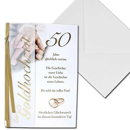 Karte Hochzeitskarte Zur Goldene Hochzeit 50 Jahre Vier