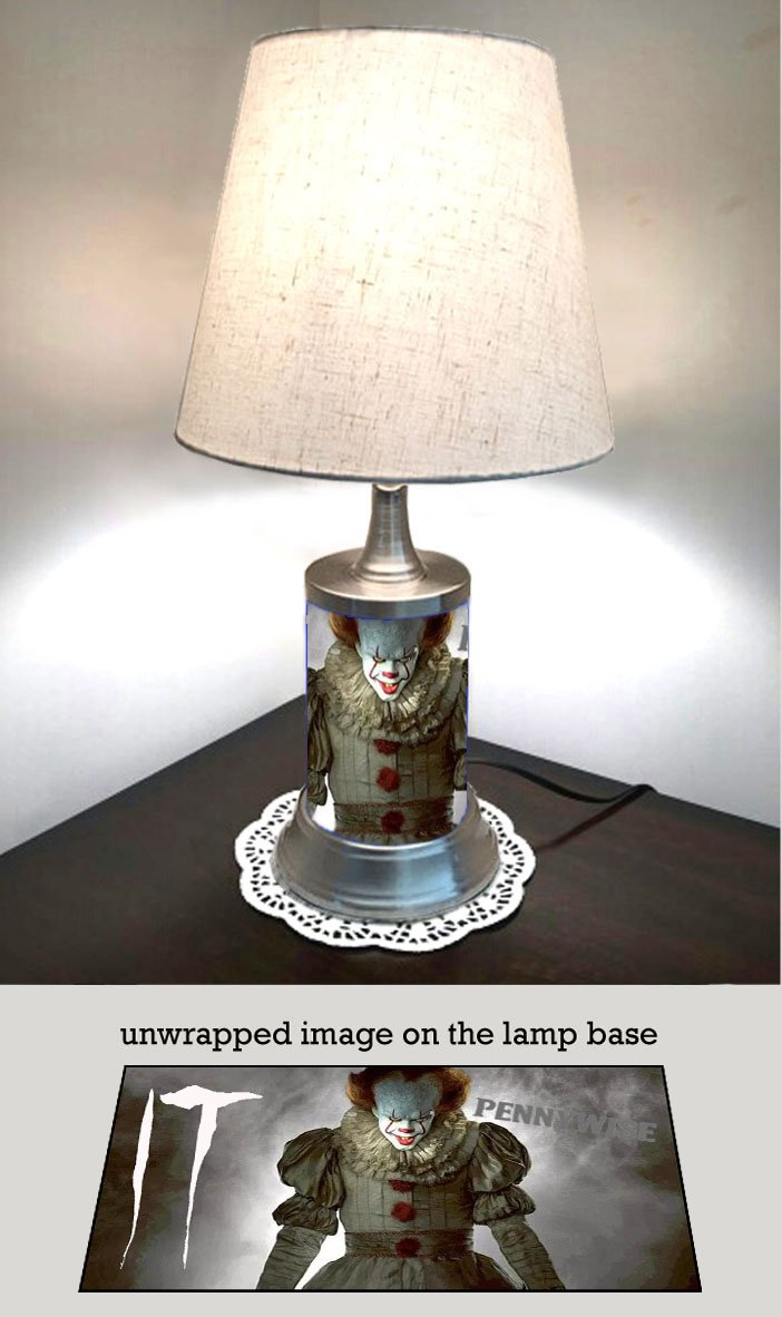 Pennywise Lamp with Shade, Movie IT