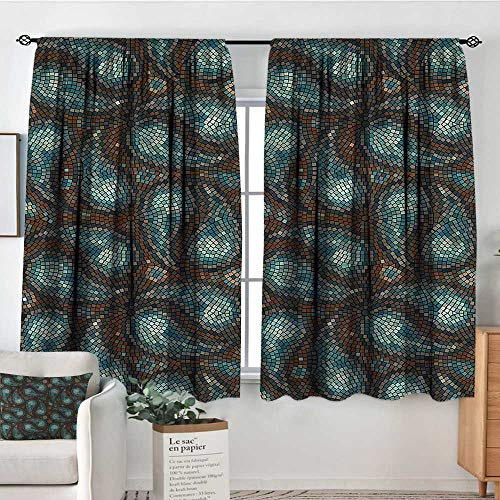 Anzhutwelve Paisley,Backout Boy Curtains Modern Teardrop Shapes 72