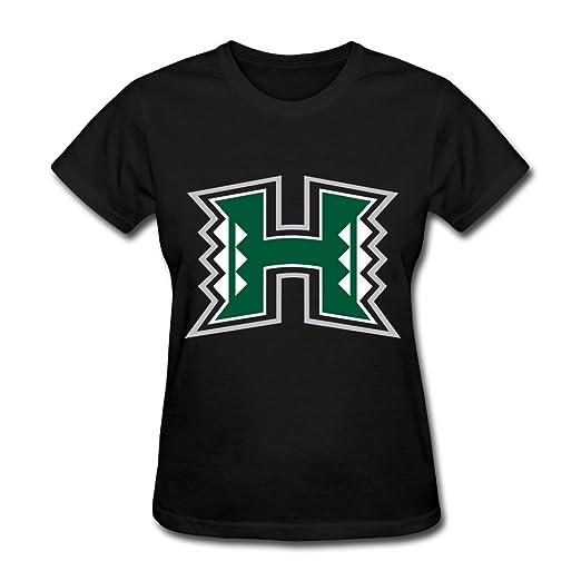 Amazon.com  Women s University Of Hawaii Uh Hawaii Warriors Logo T ... 677a93eee