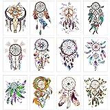 COKOHAPPY 12 Sheets Temporary Tattoos Dream Catcher Tattoos for Girls Women