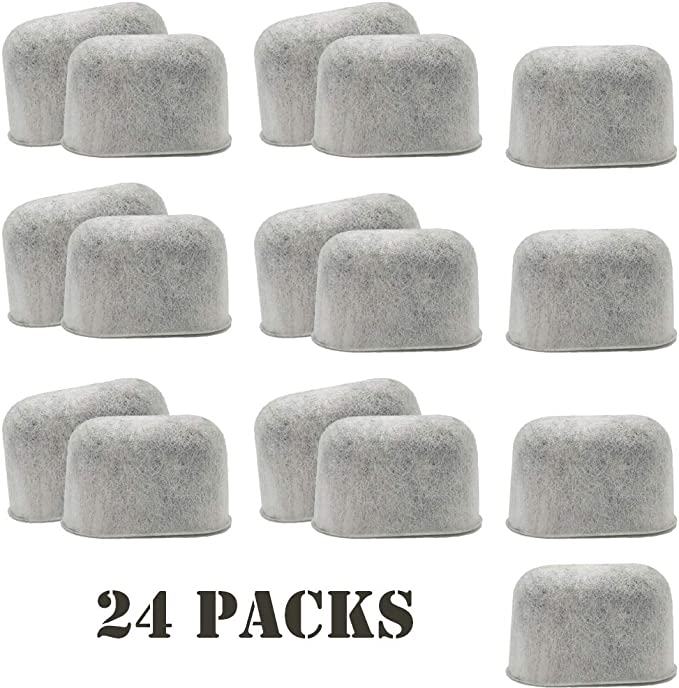 Hiwater 24-pack Charcoal Water Filters Compatible with Cuisinart Coffee Filter Replacement for all Cuisinart Coffee Maker