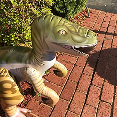 Jet Creations 51 inch Inflatable Plush Velociraptor Raptor, Dinosaur World Jurassic Room Décor Party Favors Decorations, DI-RAPTOR: Toys & Games