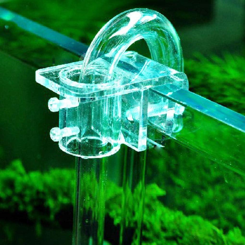 Arichtop Multi-Funci/ón Acuario de Flujo de Entrada de Tuber/ía de acr/ílico la Manguera de Salida de Agua Titular Fix Tubo de acr/ílico Accesorio Soporte