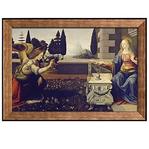 Annunciation by Leonardo Da Vinci Framed Art
