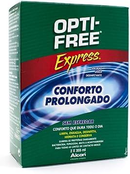 Alcon Opti-Free Express - Líquido para lentes de contacto, paquete de 2 frascos de 355 ml: Amazon.es: Salud y cuidado personal