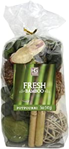 Hosley Fresh Bamboo Chunky Farmhouse Potpourri-5 oz. Perfect for Gift for Wedding or Special Occasion; Events, Aromatherapy,Spa, Reiki, Meditation O4