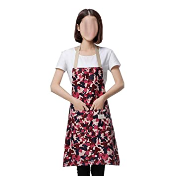 Cocina Delantal De Cocina Camuflaje Antifouling Guardapolvos Femeninos Colgando Cuello Moda Uniformes A Prueba De Aceite