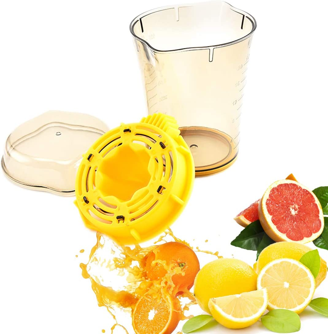 YT Home Orange Manual Citrus Juicer Multi-functional Grapefruit a Hand Press Squeezer with Large Size 20 Oz Measuring Cup 3 in 1 Use