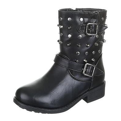 new styles 1a26d 839ed Kinder Schuhe, 7018-1, STIEFEL, NIETEN BESETZTE MÄDCHEN ...