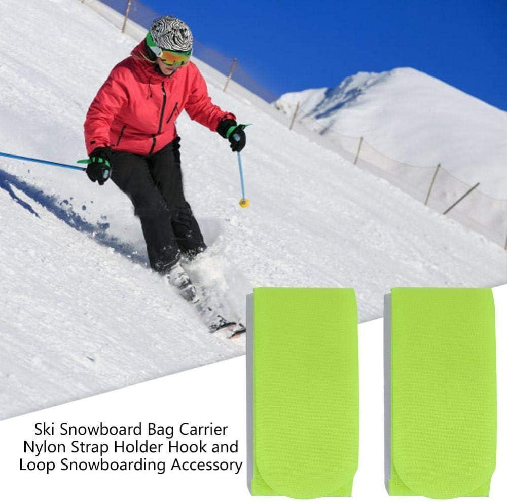 Alomejor Ski Correa Ski Snowboard Hombro Portador Nylon 1 Pares para Esquiar Snowboarding