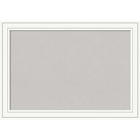 Amazon.com: Amanti Art Craftsman White Framed Grey Cork Board X-Lg ...