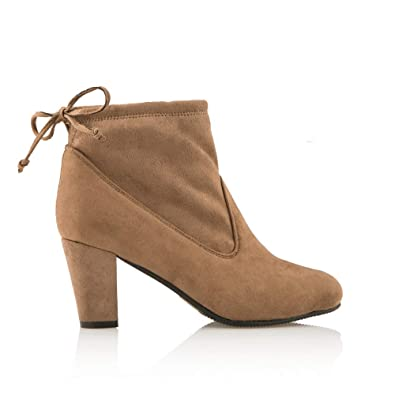679219a42c5d3 Cushion Walk Suedette Heeled Tie Ankle Boot