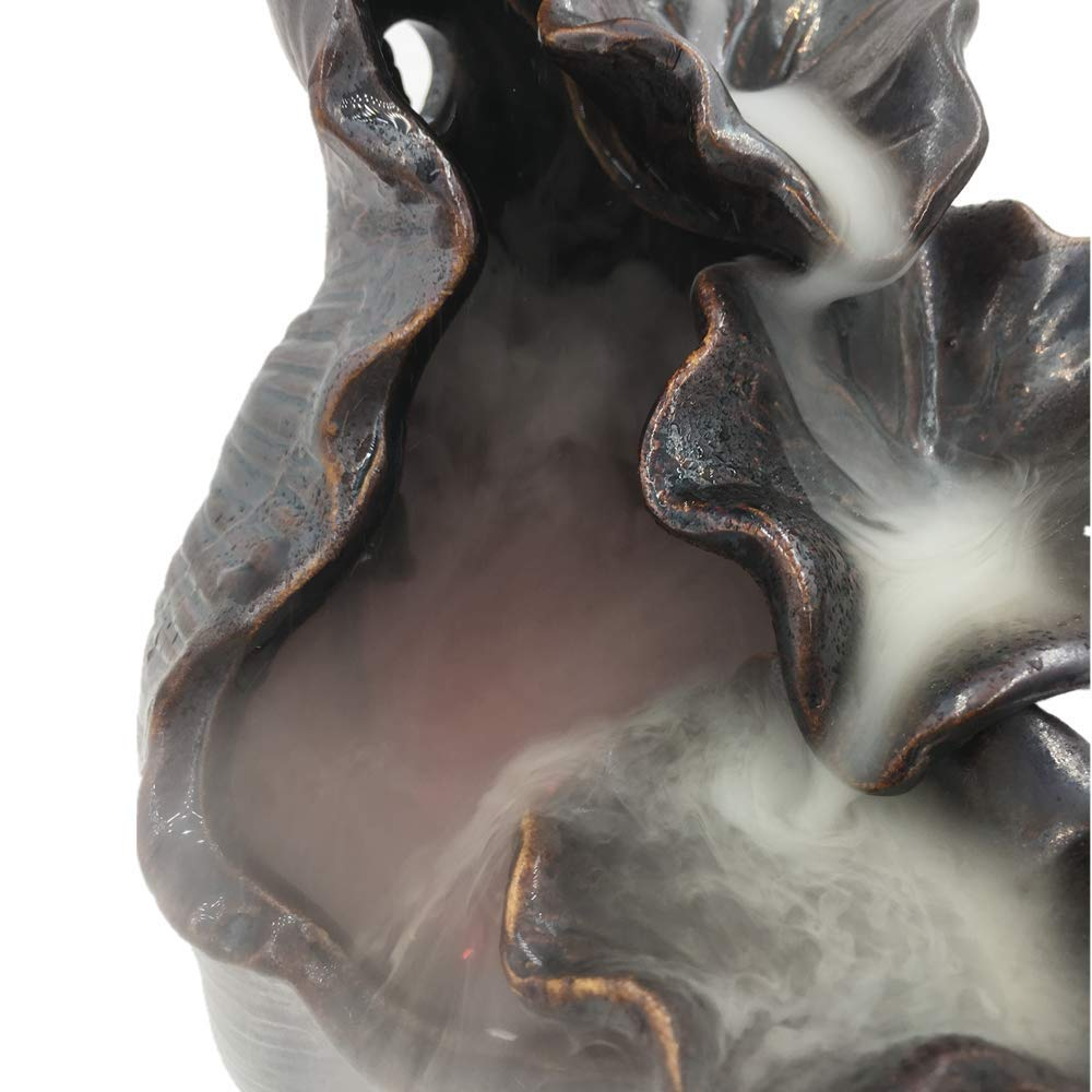 Spie Backflow Incense Burner Ceramic Lotus Pond Tower Incense Iron Glaze Censer by Spie (Image #4)