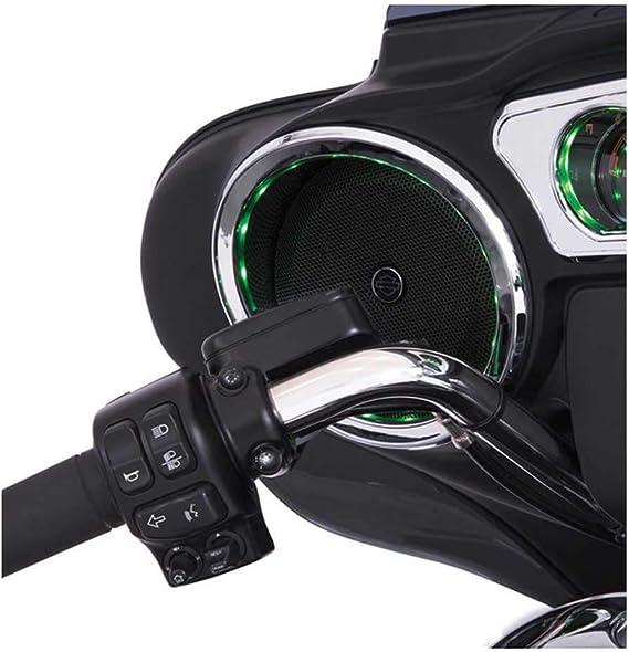 Ciro 42100 Chrome LED Front Speaker Accents for 2014-2016 Harley-Davidson FLHT Touring Models